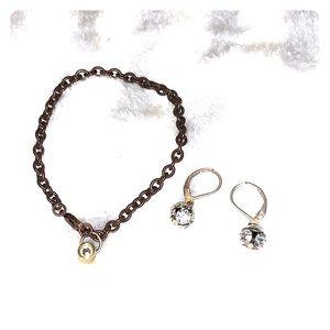 🆕 Vintage Bracelet and Earrings Set